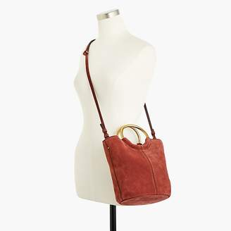 J.Crew Bracelet bucket bag in Italian suede