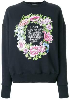 Alexander McQueen Love wreath print sweatshirt