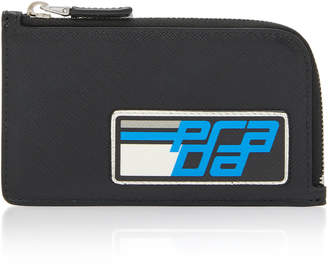 Prada Logo-Printed Leather Cardholder