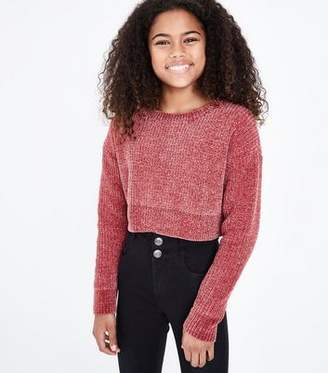 New Look Girls Pink Chenille Jumper