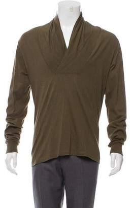 Alexander McQueen Mélange Shawl Sweater
