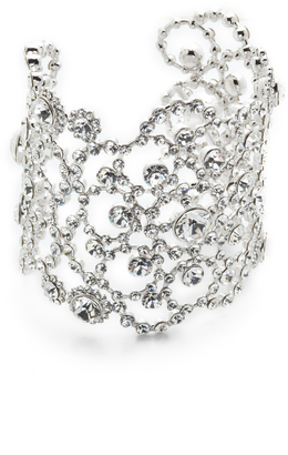 Kate Spade New York Crystal Lace Cuff Bracelet $278 thestylecure.com