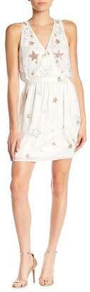 Adelyn Rae Jada Sequins Stars Surplice Dress