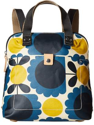 Orla Kiely Matt Laminated Scallop Flower Small Backpack Tote Backpack Bags