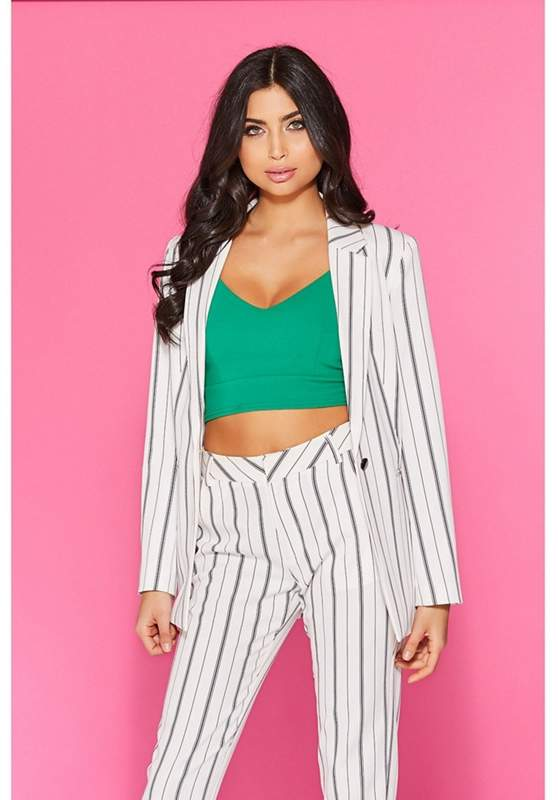 White Stripe Suit Jacket