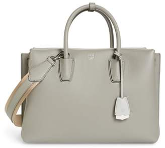 MCM Large Milla Leather Tote