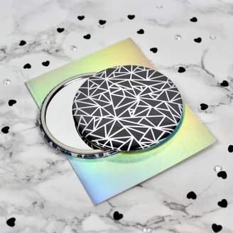Chaos Lili Price Studio Geometry Black Pocket Mirror