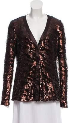 Rachel Zoe Sequined Evening Jacket