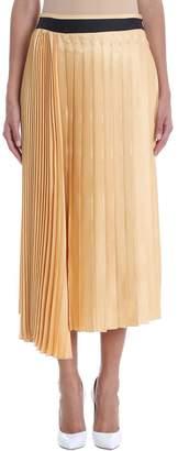 Victoria Beckham Victoria Yellow Pleated Skirt