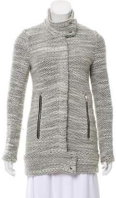 IRO Band-Collar Knit Jacket