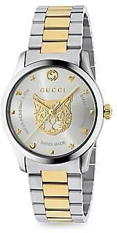 Gucci Men's G-Timeless Steel Bracelet Watch