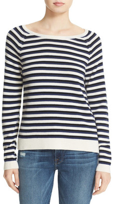 Loma Violet Stripe Wool & Cashmere Sweater $275 thestylecure.com
