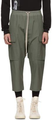 Rick Owens Green Drawstring Trousers