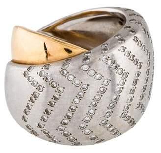 Ring Valente Milano 18K Diamond Crossover Band