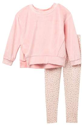 8f679fc3c0c434 Splendid Velour Sweatshirt   Leggings Set (Little Girls)