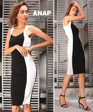ANAP (アナップ) - アナップ バイカラータイトニットワンピース