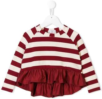 MonnaLisa striped sweater with ruffles