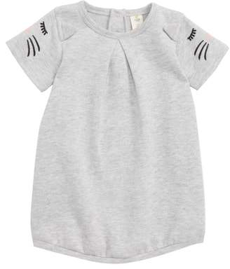 Tucker + Tate Embroidered Animal Sleeve Fleece Dress