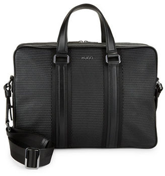 Hugo Boss Textured Crossbody Briefcase $595 thestylecure.com