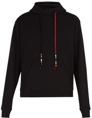 J.W.Anderson Beaded Drawstring Hooded Cotton Sweatshirt - Mens - Black