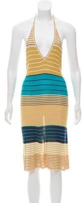 Haute Hippie Striped Halter Dress