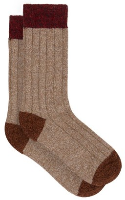 Pantherella Scott Nichol Burghley Socks - Mens - Light Brown