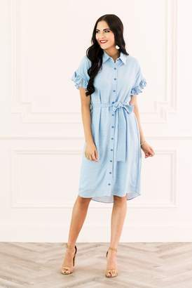 Rachel Parcell Rachel Parcell, Inc.Rachel Parcell Tie Front Dress in Nautical Blue
