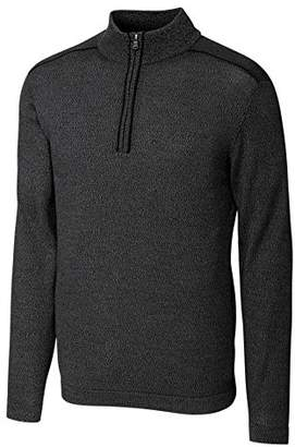 Cutter & Buck Men's Henry Marled Merino Wool Blend Long Sleeve Half Zip Sweater
