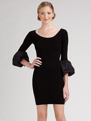 BCBGMAXAZRIA Bell-Sleeve Sweater Dress