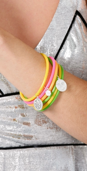Jules Smith Neon Bangles with Charms