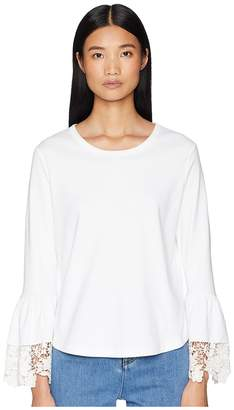 See by Chloe Lace Trim Tee Women's T Shirt