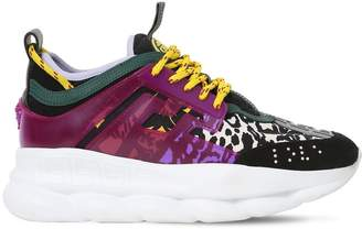 Versace Chain Reaction Leopard Neoprene Sneakers