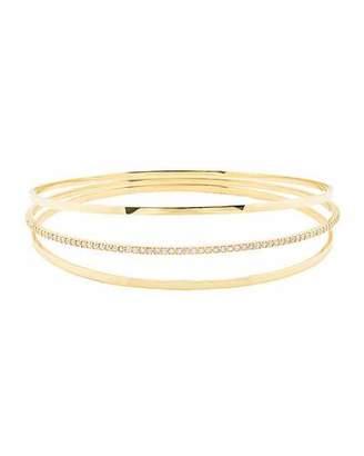 Lana Jewelry 14k Gold Alias Wide Curve Bangle Bracelet 7Av4MTYB