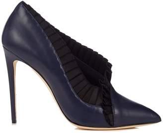 Olgana Paris La Divine leather and satin pumps