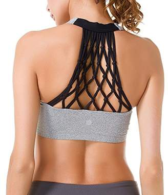 Queenie Ke Women's Medium Support Hand-Knited Nest Back Sport Fast Lane Bra Size XS Color