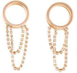 Maison Margiela Crystal Front-Back Earrings