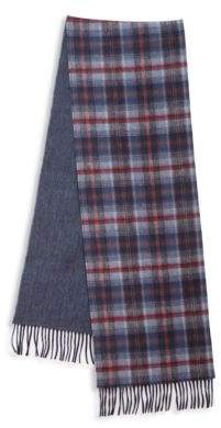 Saks Fifth Avenue Plaid Merino Wool & Cashmere Scarf