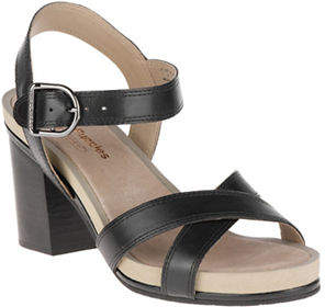Hush Puppies Mariska Buckle Leather QTR Sandals