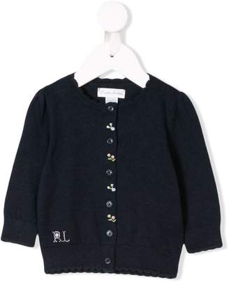 Ralph Lauren Kids floral embroidered cardigan