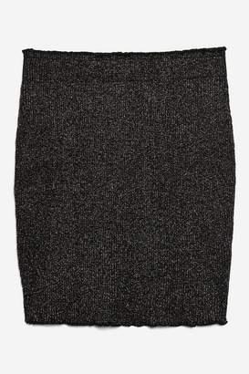 **Maureen - Silver MeTallic Skirt by WYLDR