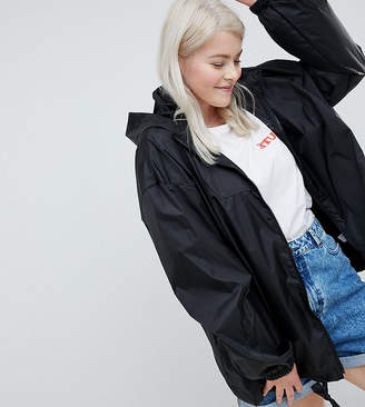 Asos DESIGN Curve rain jacket with fanny pack