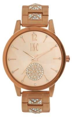 INC International Concepts I.N.C. Women's Boyfriend Pavé Pyramid Glitz Bracelet Watch 40mm, Created for Macy's