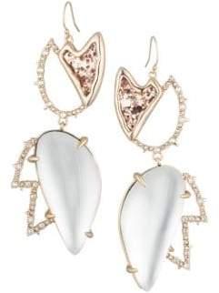 Alexis Bittar 10K Gold Lucite Crystal Wire Earrings