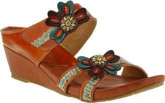 Spring Step L'Artiste Leather Wedge Slide Sandals - Bacall