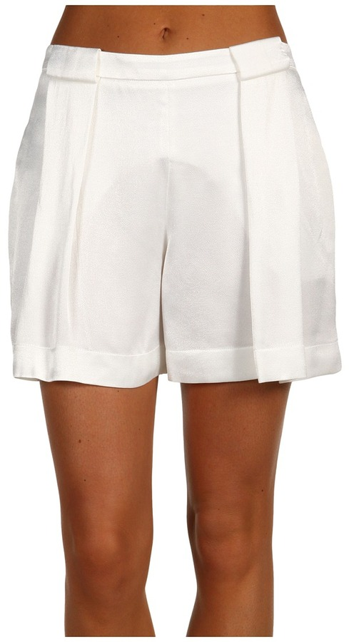Robert Rodriguez Pleated Paper Bag Short (White) - Apparel