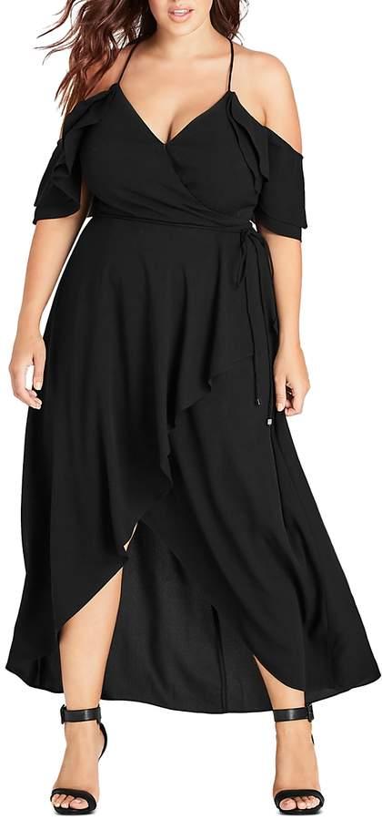 Plus Miss Jessica Cold-Shoulder Maxi Dress