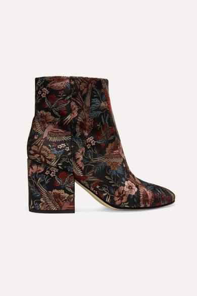 Sam Edelman - Taye Jacquard Ankle Boots - Black