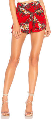 About Us Maya Tie Front Shorts