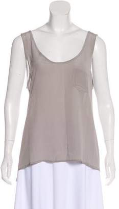 Diane von Furstenberg AS BY Sleeveless Silk-Blend Top