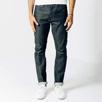 DSTLD Slim Raw Jeans in Selvedge Indigo - Grey